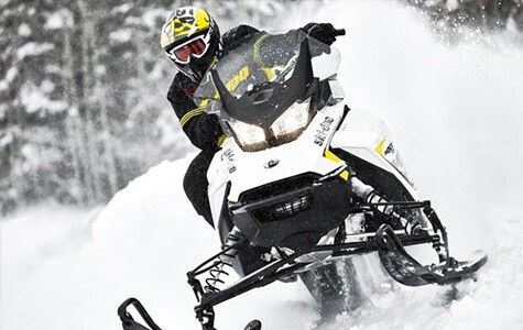 Snowmobiles sold at Sherwood Groves Powersports in Towanda, PA.